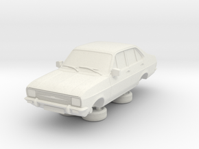 1-76 Escort Mk 2 4 Door Standard Square Head Light in White Natural Versatile Plastic