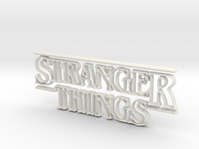 Stranger Things Logo in White Strong & Flexible