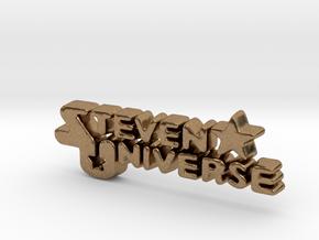 Steven Universe Logo in Natural Brass