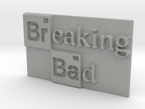 Breaking Bad Logo in Aluminum