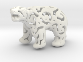 Polar Bear in White Natural Versatile Plastic