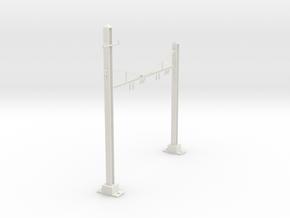 HO Scale PRR K Braced 2 Track Y BRACKET in White Natural Versatile Plastic