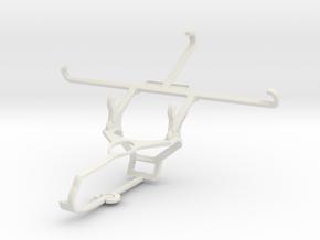 Controller mount for Steam & Meizu m3e - Front in White Natural Versatile Plastic