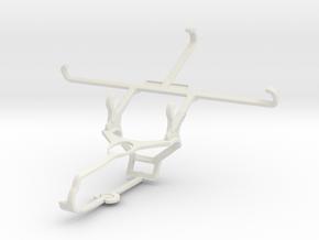 Controller mount for Steam & Micromax Canvas Mega  in White Natural Versatile Plastic