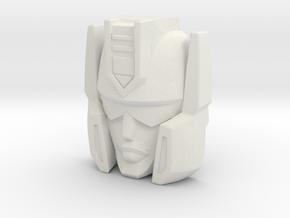 "R63 - ""Vizar"" Face (Titans Return) in White Strong & Flexible"