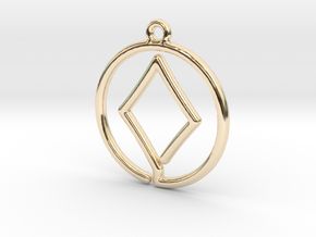 Diamond Card Game Pendant in 14K Yellow Gold