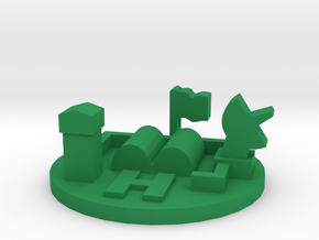 Game Piece, Army Base in Green Processed Versatile Plastic