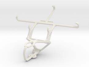 Controller mount for PS3 & Panasonic Eluga I3 in White Natural Versatile Plastic