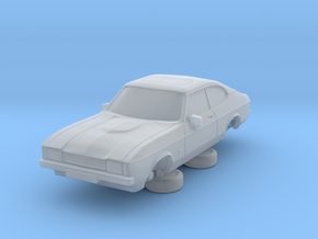 1-87 Ford Capri Mk2 Standard in Smooth Fine Detail Plastic