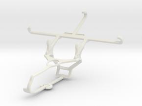 Controller mount for Steam & Panasonic Eluga L 4G  in White Natural Versatile Plastic