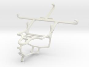 Controller mount for PS4 & Panasonic Eluga L 4G in White Natural Versatile Plastic