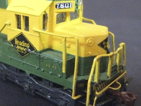 Reading N Scale SD45 Cab And Hood in Smooth Fine Detail Plastic