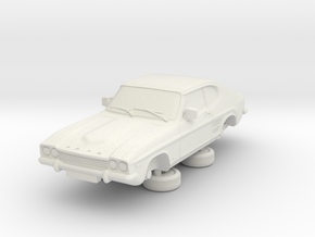 1-76 Ford Capri Mk1 3L in White Natural Versatile Plastic