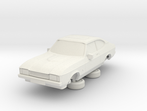 1-76 Ford Capri Mk2 3L in White Natural Versatile Plastic