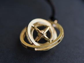 Double Rotating Planet - Time turner inspired in Natural Brass (Interlocking Parts)