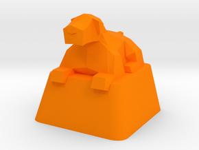 Low-Poly Dog Cherry MX keycap in Orange Processed Versatile Plastic