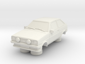 1-87 Ford Fiesta Mk1 Xr2 in White Natural Versatile Plastic
