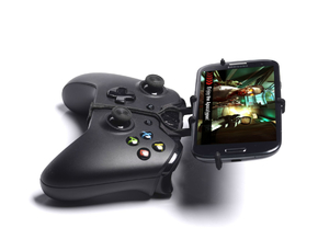 Xbox One controller & Sony Xperia M5 Dual - Front  in Black Natural Versatile Plastic