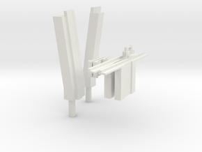 1:6 scale Hasbro HMMWV doors harware 1 in White Natural Versatile Plastic