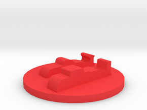 Game Piece, Red Force, Attack Sub Group in Red Processed Versatile Plastic