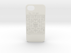 Pac-Man Iphone 5 Case in White Natural Versatile Plastic
