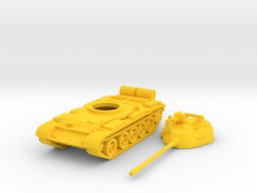 1/144 scale T-55 tank in Yellow Processed Versatile Plastic