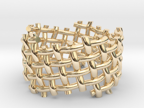Woven Twisted Ring in 14k Gold Plated Brass: 5 / 49