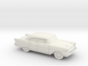 1/87 1957 Chevrolet BelAir Sedan in White Strong & Flexible