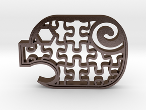 PuzzlePiggy - Autism Awareness in Polished Bronze Steel