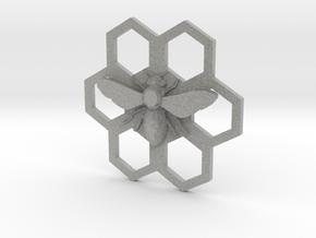 Bee Hive Honey Comb Charm Necklace Pendant in Metallic Plastic