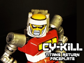 Gobots Cy-Kill Face (Titans Return) in Smooth Fine Detail Plastic
