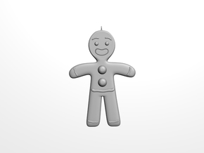 Gingerbread man tree decoration in White Strong & Flexible