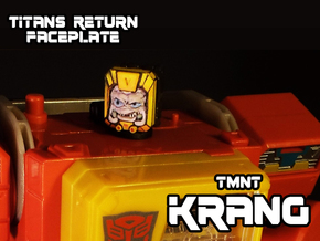 Krang Faceplate (Titan Masters) in Smooth Fine Detail Plastic