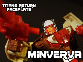 Minerva Faceplate (Titans Return) in Smooth Fine Detail Plastic