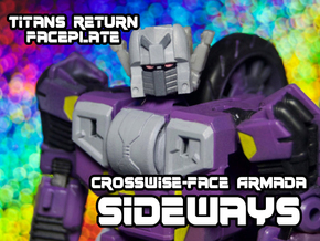 Sideways Crosswise Face (Titans Return) in Frosted Ultra Detail