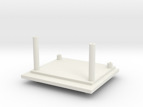 Titans Fort Max G1 Waist Tower Adaptor in White Strong & Flexible