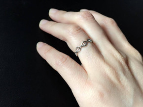 DNA Ring in Polished Silver: 8 / 56.75