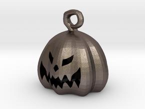 Mini Pumpkin  in Polished Bronzed Silver Steel
