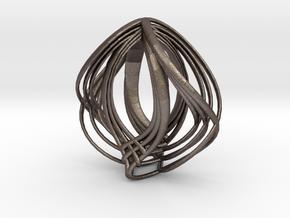 avgi  in Polished Bronzed Silver Steel