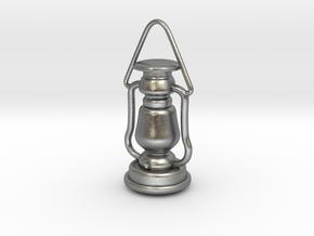 1/6 Lantern miniature/pendant in Natural Silver