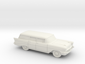 1/87 1957 Chevrolet Bel Air Station Wagon in White Strong & Flexible