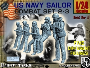 1-24 US Navy Sailors Combat SET 2-3 in White Strong & Flexible