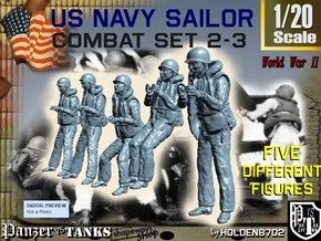 1-20 US Navy Sailors Combat SET 2-3 in White Strong & Flexible