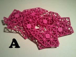 Ptarmigan Puzzle (Set A) in Pink Strong & Flexible Polished