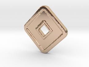 DD-N in 14k Rose Gold Plated Brass