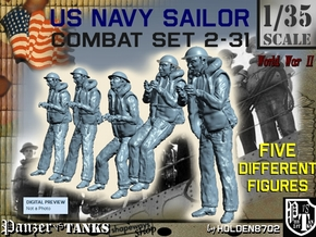 1-35 US Navy Sailors Combat SET 2-31 in Smooth Fine Detail Plastic