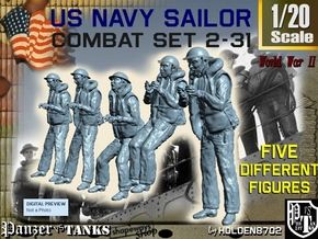 1-20 US Navy Sailors Combat SET 2-31 in White Natural Versatile Plastic