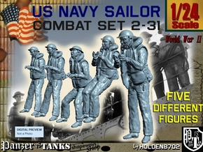 1-24 US Navy Sailors Combat SET 2-31 in White Strong & Flexible