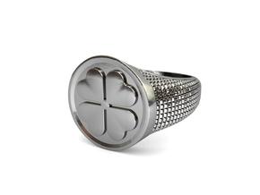 Quadrifoglio in Polished Silver: Medium