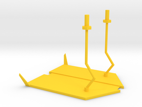 lost marbles robot skiff in Yellow Processed Versatile Plastic